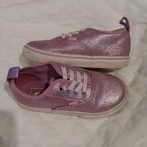 9.5 girls sparkly purple vans